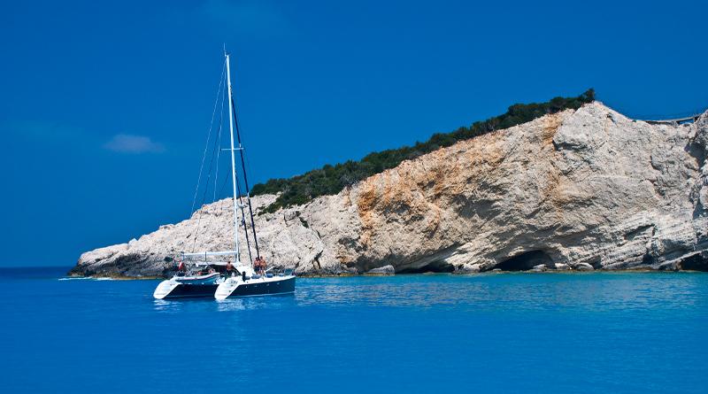 Porto Katsiki op het schiereiland Lefkas in Griekenland