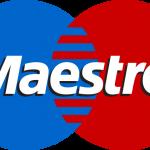 Kijk naar het Maestro-logo in Griekse winkels