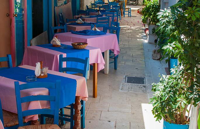 Restaurantje in Lefkas-stad