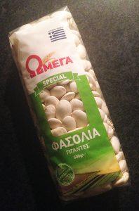 Griekse witte reuzenbonen voor gigantes plaki