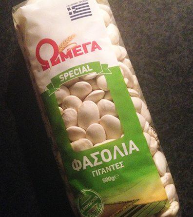 Griekse reuzenbonen van het merk Omega.