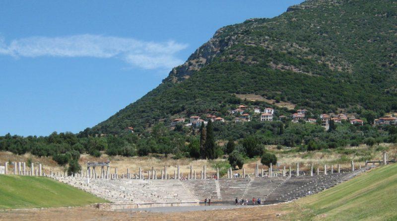 Overzicht van het stadion in Messini (Messene)