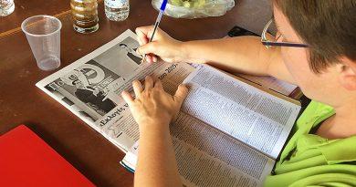 Grieks leren tijdens een cursus Grieks
