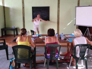 Op Griekse les in Epidavros, Griekenland