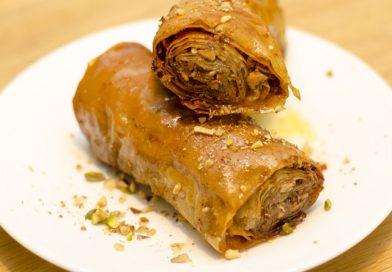 Supercrispy baklava rolletjes (Saragli) recept