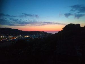 De avond valt op Patmos