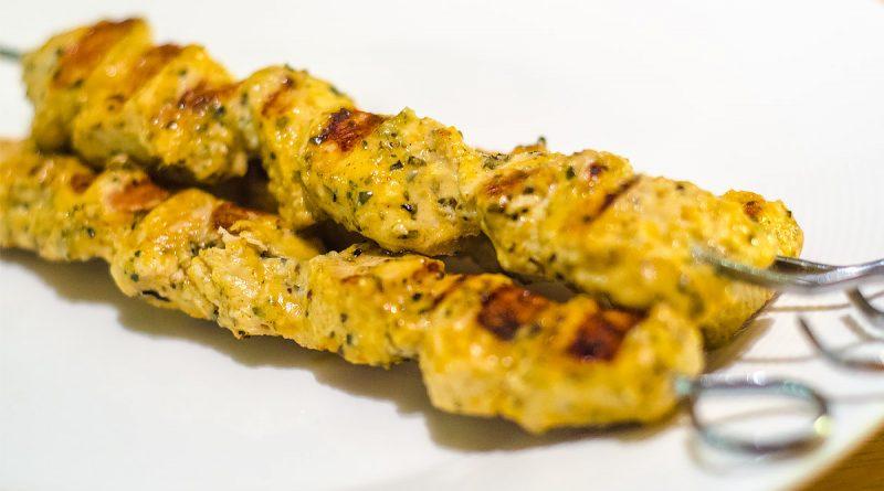 Recept voor heerlijk malse kip souvlaki