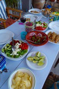 Gedekte tafel in Griekenland