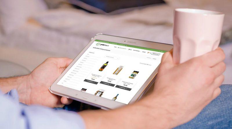 Griekse producten bestellen bij Griekishop op een tablet
