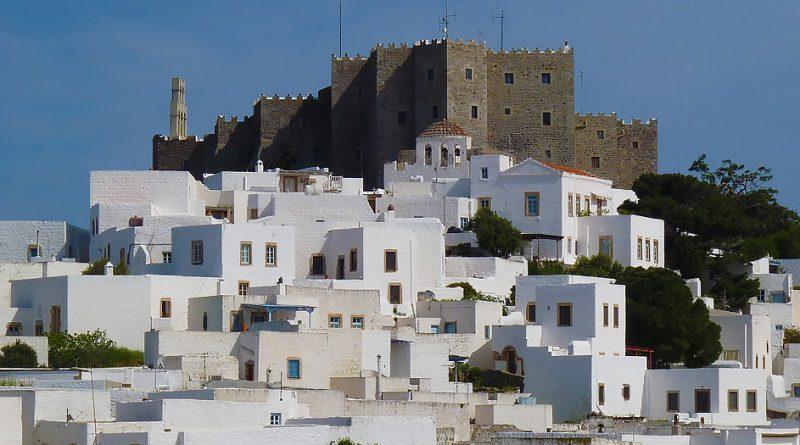 Uitzicht op Chora op Patmos