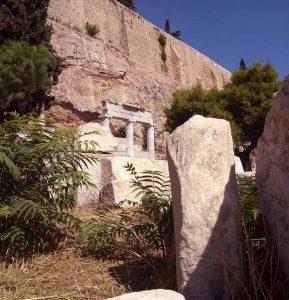 Het heiligdom van Asklepion in Athene bij de Akropolis