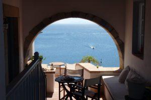 Uitzicht op zee in Griekenland