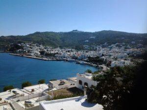 Patmos uitzicht op de baai